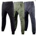 Green Cargo Elastic Pants