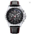 Leather Strap Men's Watch
