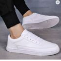 Leather fashion lace-up shoes