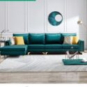 Wood frame sectional sofa