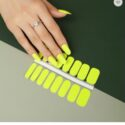 Yellow nail polish strips