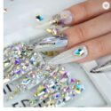 Nail art rhinestones for designs