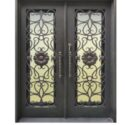 Interior wrought iron door