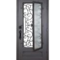 Wrought iron grill door