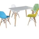 Table and dining chairs